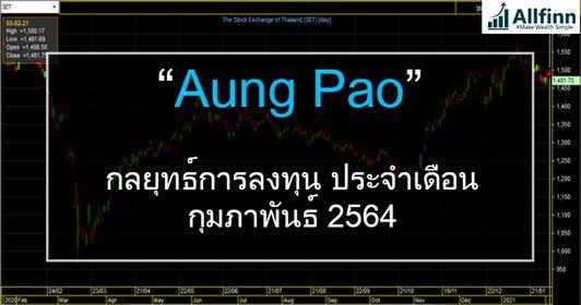 """กลยุทธ์การลงทุนตลาดหุ้นไทย ประจำเดือนกุมภาพันธ์2564 : """"Aungpao"""""""